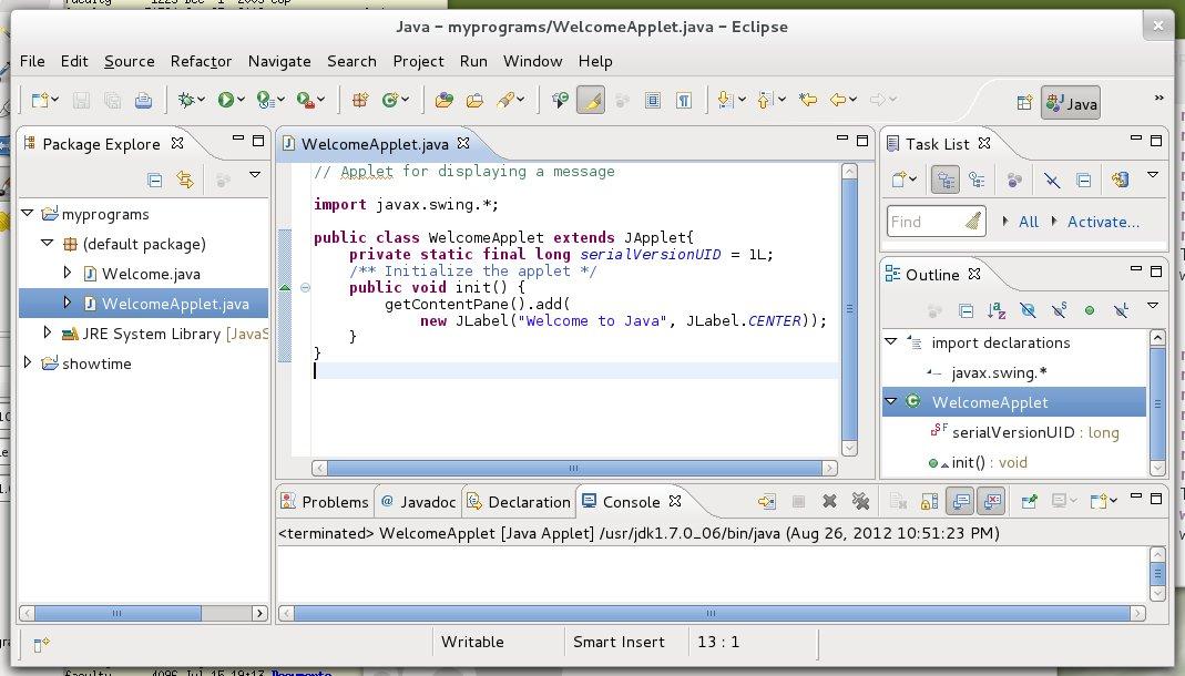 Java applet simple animation example java tutorial.